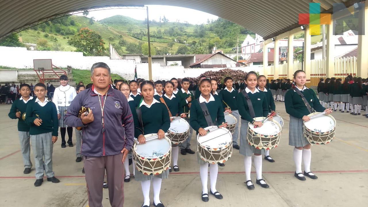 Escuelas de Zacualpan conmemoran Gesta Heroica de Chapultepec