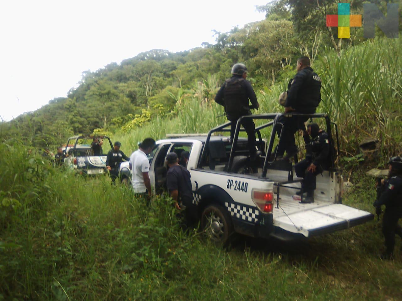 Auxilian SSP y Policía Municipal a persona secuestrada, en Cuichapa