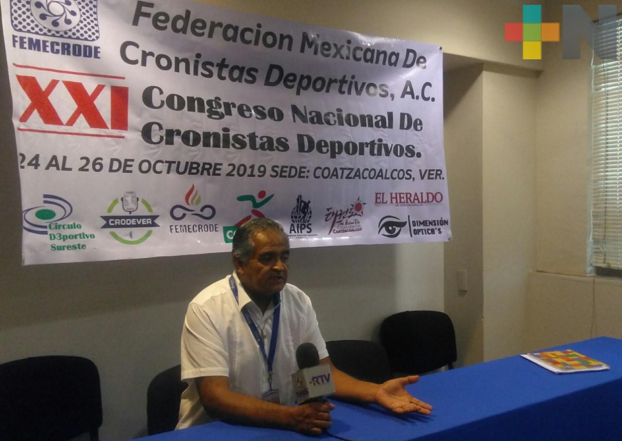 Coatzacoalcos recibirá Congreso Nacional de Cronistas Deportivos
