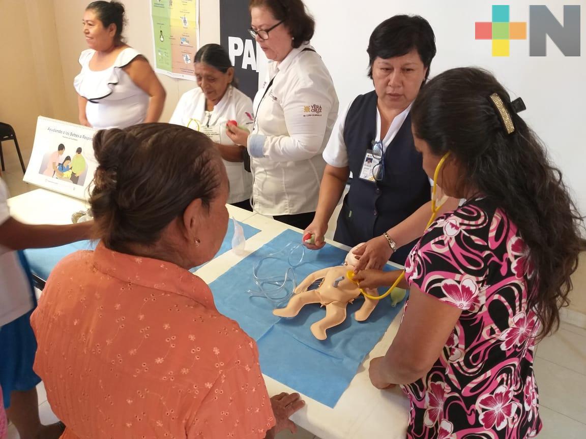 Certifica Secretaría de Salud a parteras tradicionales de Tempoal