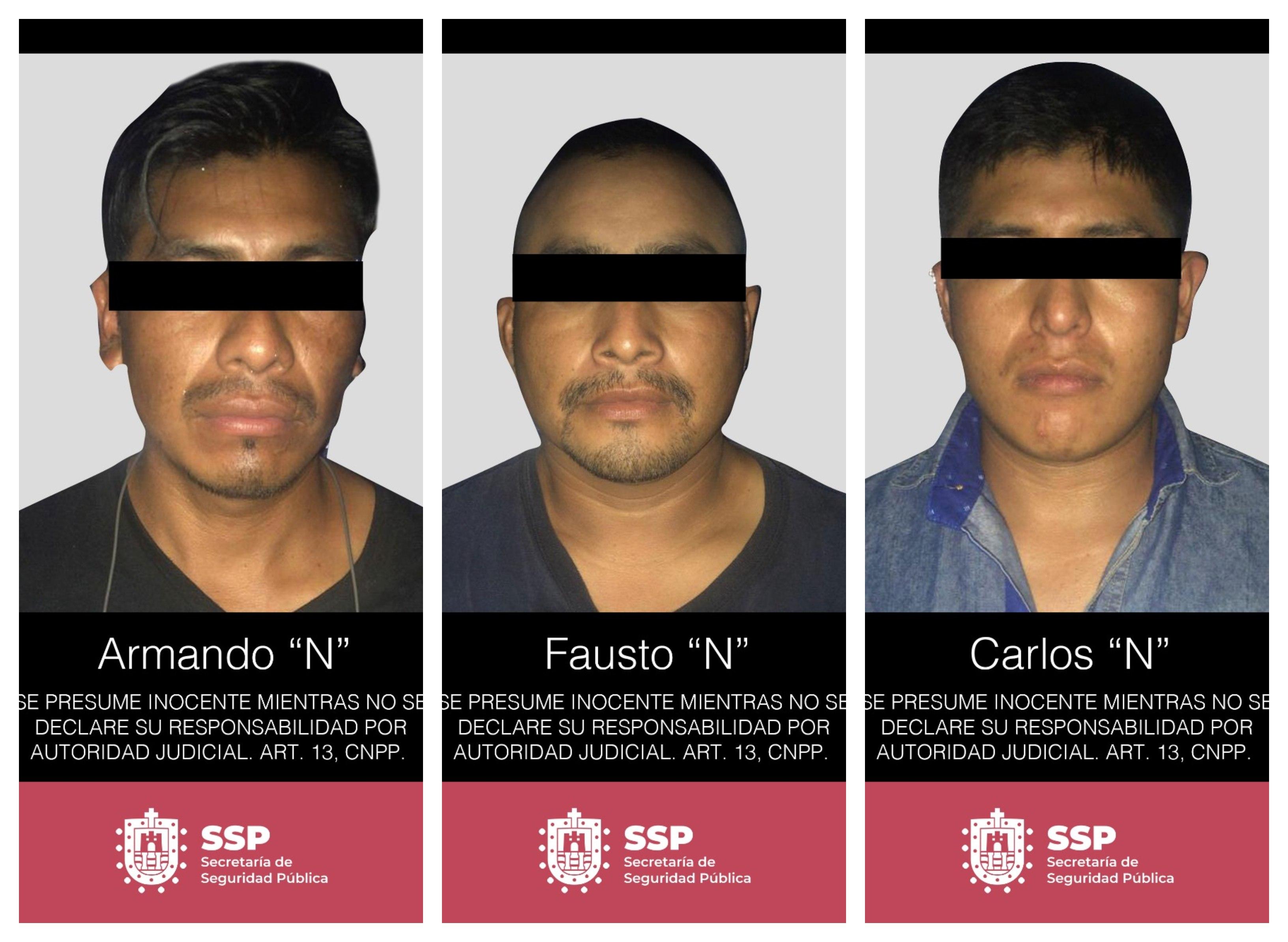 En Acayucan, captura SSP a presuntos traficantes de personas