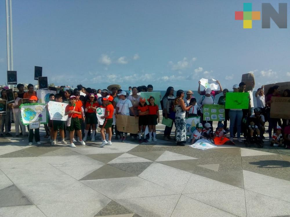 Municipio de Veracruz se suma a protesta pacífica por el cambio climático