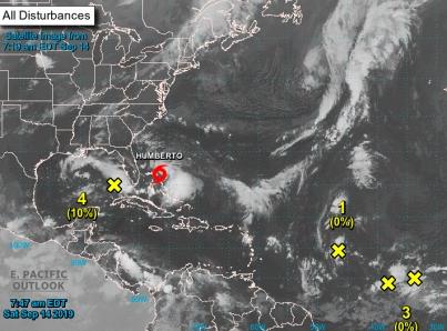 Alerta en las Bahamas por tormenta tropical «Humberto»