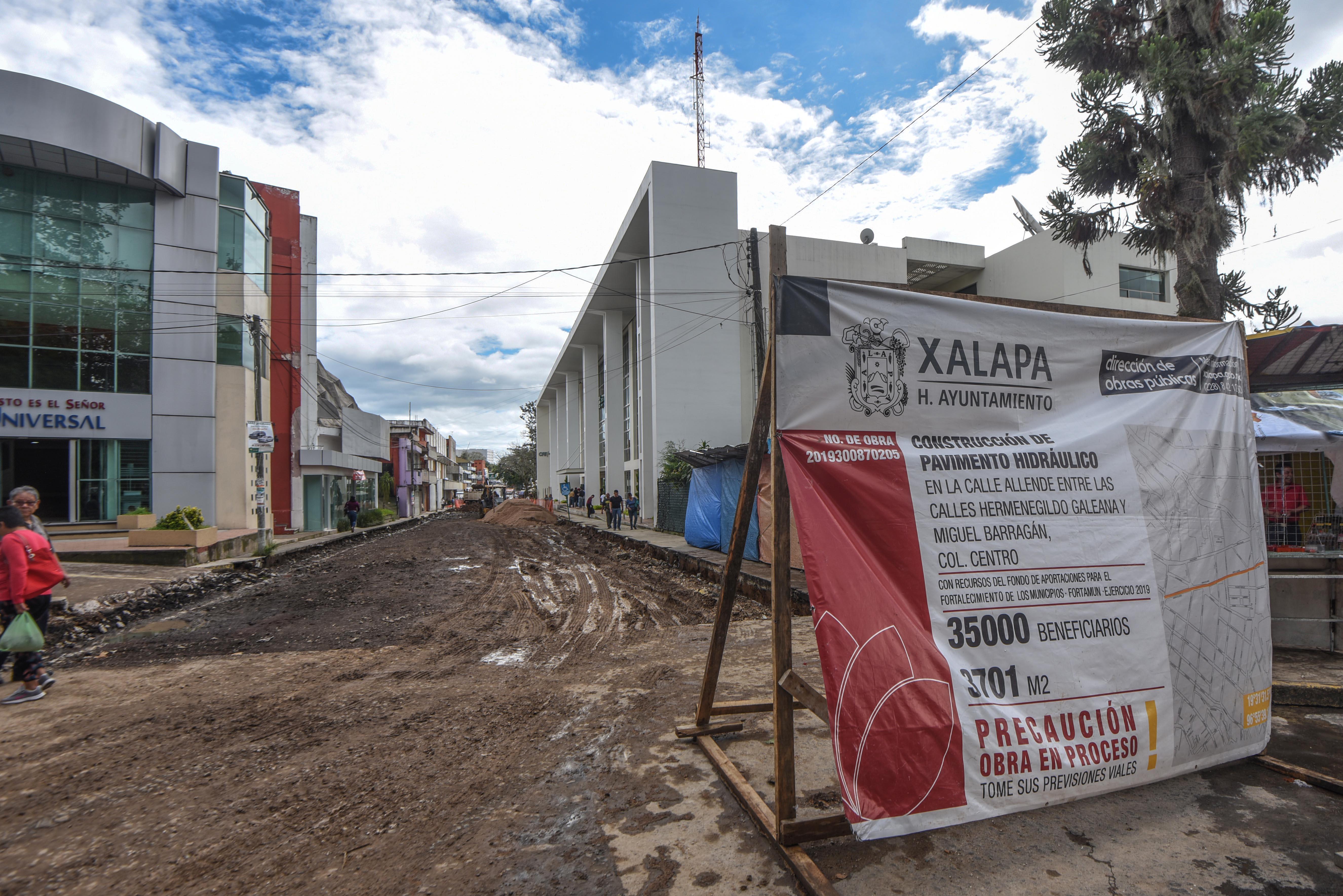 Obra de calle Ignacio Allende avanza en tiempo y forma