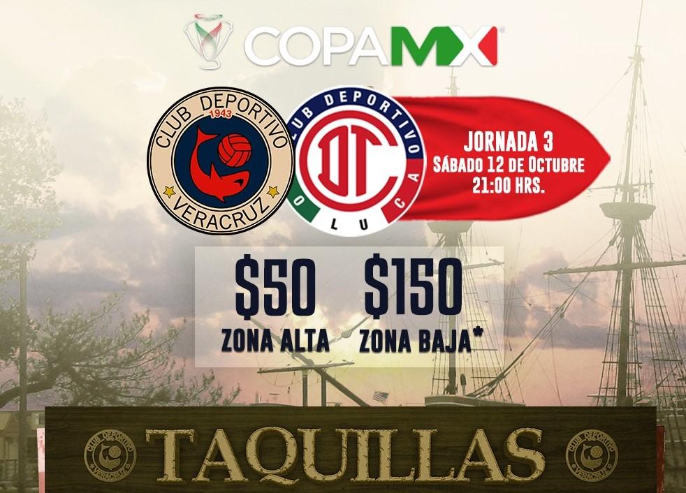 Tiburones Rojos alista duelo ante Toluca en Copa MX