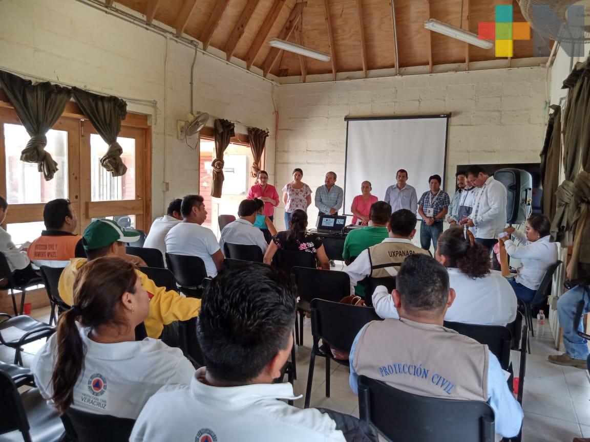 Capacita Sedema a municipios del sur en combate de incendios forestales