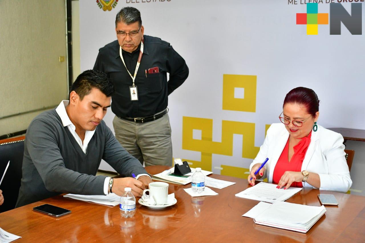 Firma IPE Convenio con Banderilla para recuperación de 1.8 mdp