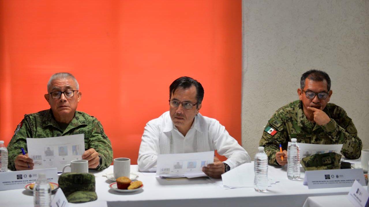 Presenta Cuitláhuac resultado de operativos en mesa de seguridad en El Higo