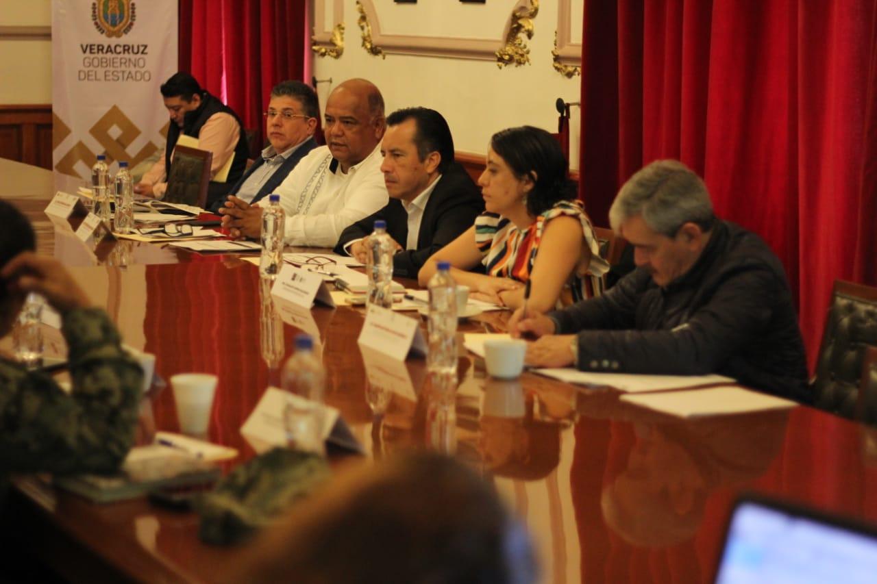 Revisó el gobernador Cuitláhuac García acciones de prevención por fenómenos meteorológicos