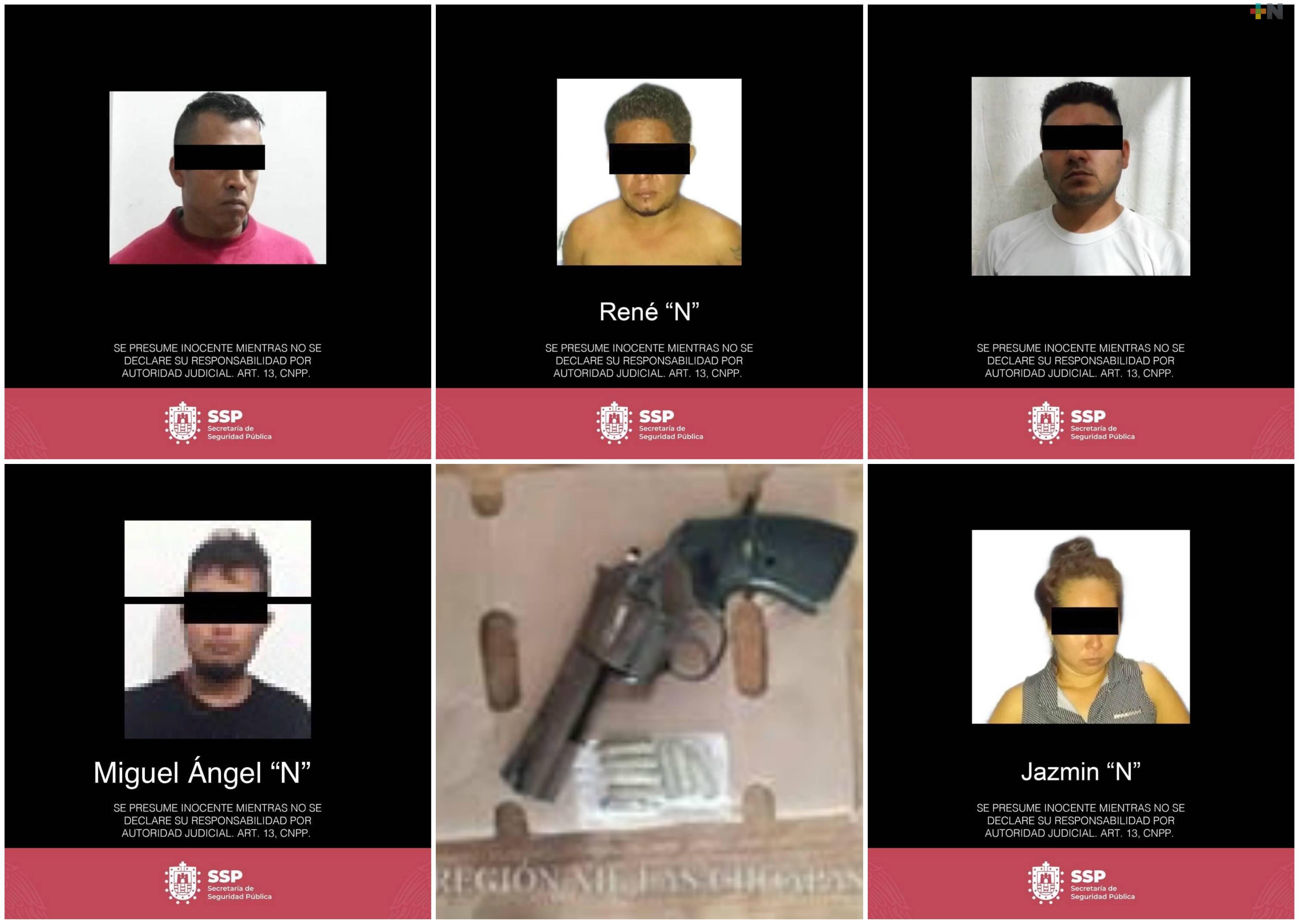 Detiene SSP a cuatro hombres y una mujer por diferentes delitos
