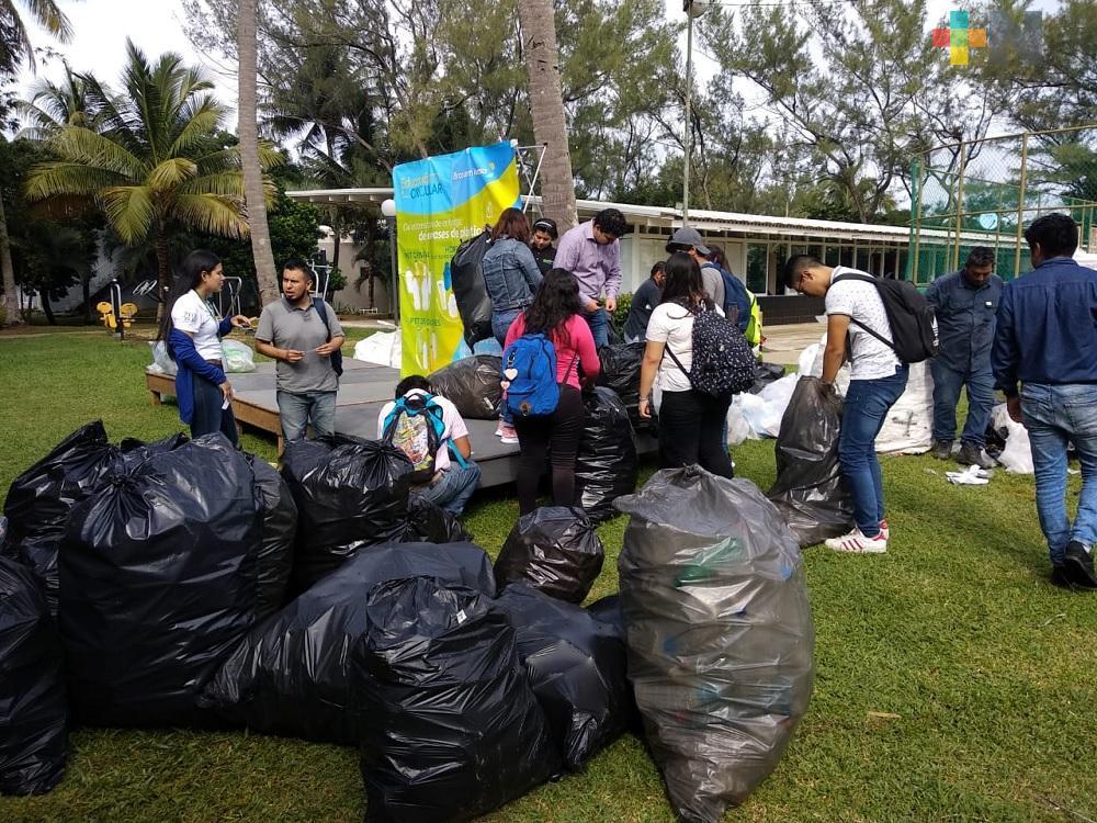 Estudiantes de nivel superior  del sur de Veracruz se suman al programa de Educación Circular