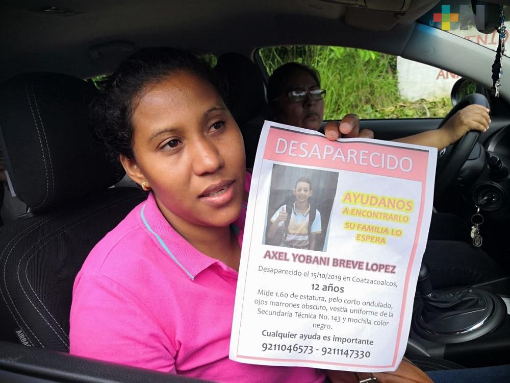 Familiares solicitan apoyo para localizar a estudiante de secundaria de Coatzacoalcos