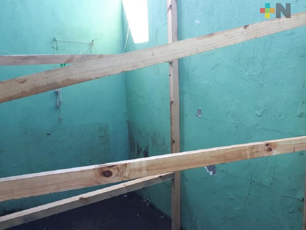 Familias del municipio de Veracruz reportan daños en viviendas por trabajos en terreno colindante