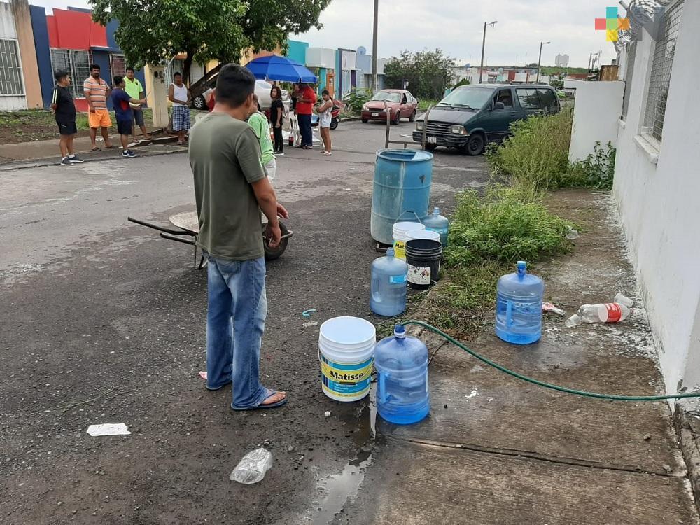 Fraccionamiento de Veracruz Puerto llevan cuatro días sin agua potable