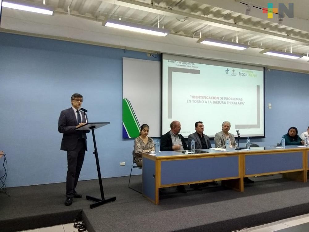 Inauguran taller «Identificación de problemas en torno a la basura en Xalapa»