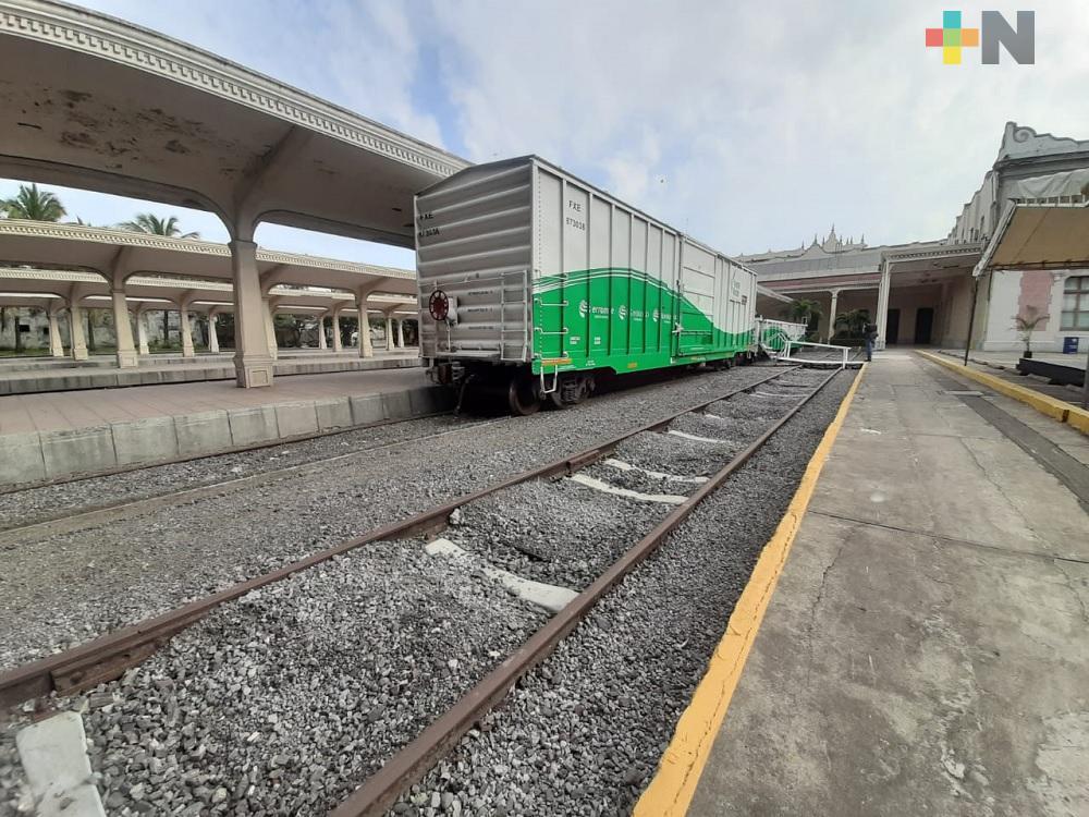 Disminuyó 3.17% el servicio de transporte ferroviario de carga por impacto de COVID-19