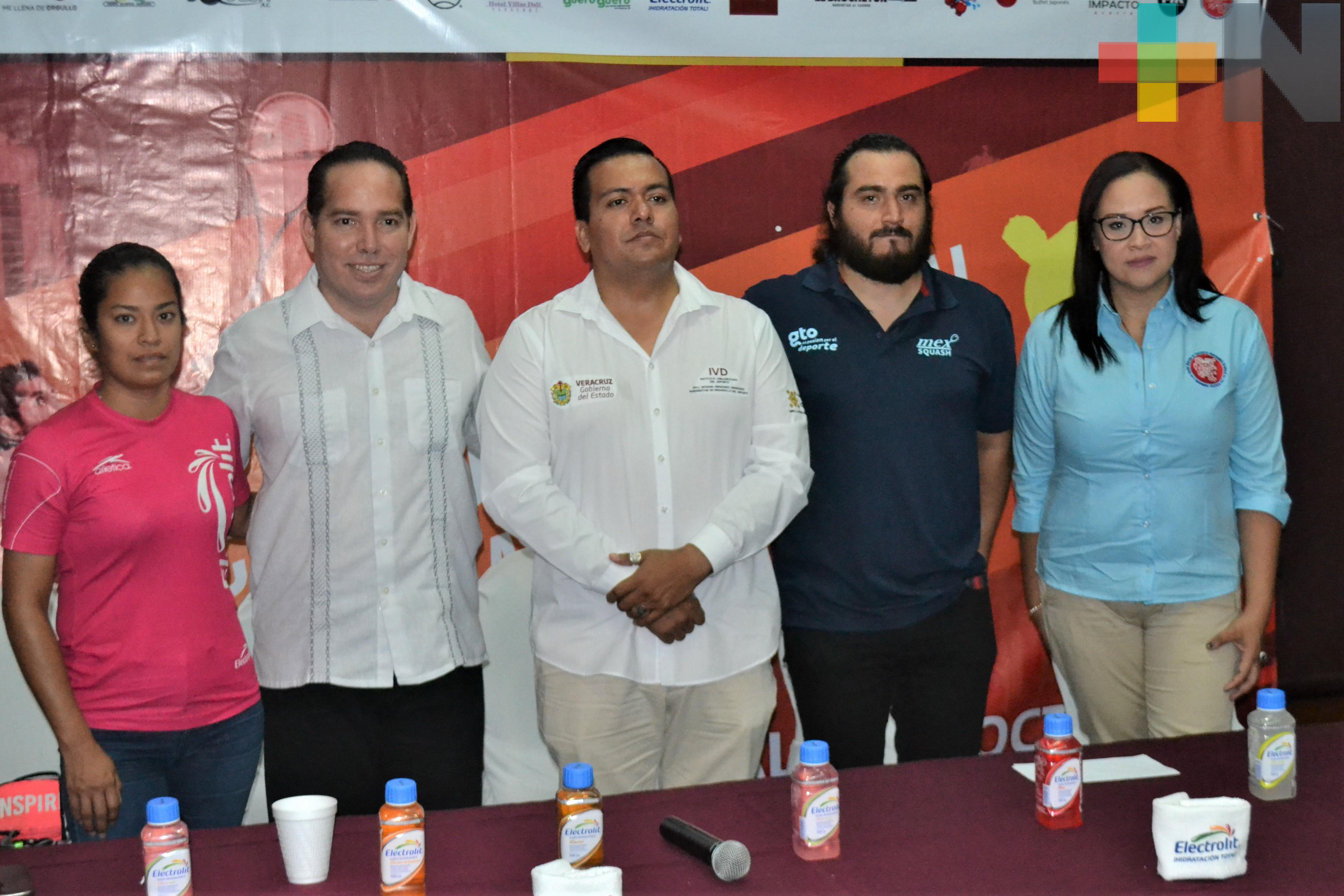 Veracruz recibirá Campeonato Nacional de Squash