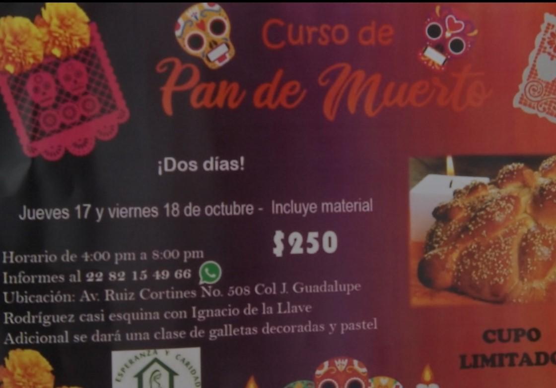 Curso para elaborar pan de muerto en beneficio de Casa Hogar Tepeyac de Xalapa