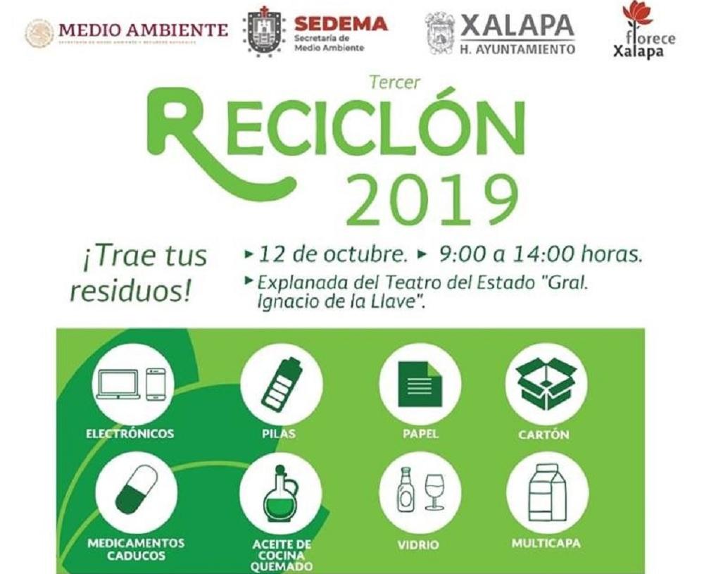 Ayuntamiento de Xalapa realizará tercer Reciclón