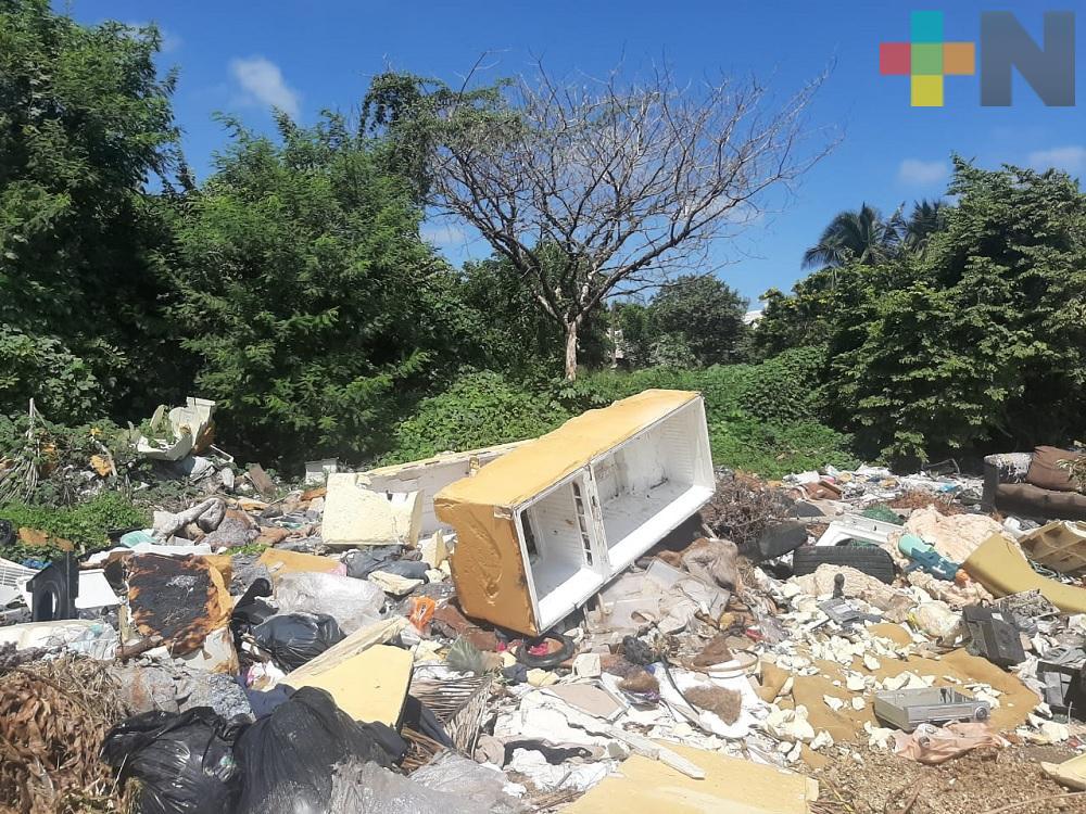 Vecinos de fraccionamiento Bosques de Tarimoya reportan basurero a cielo abierto
