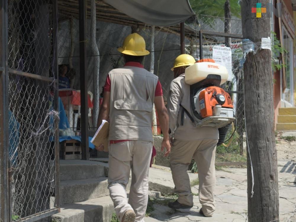 Vectores en Tantoyuca mantiene la campaña del combate contra dengue