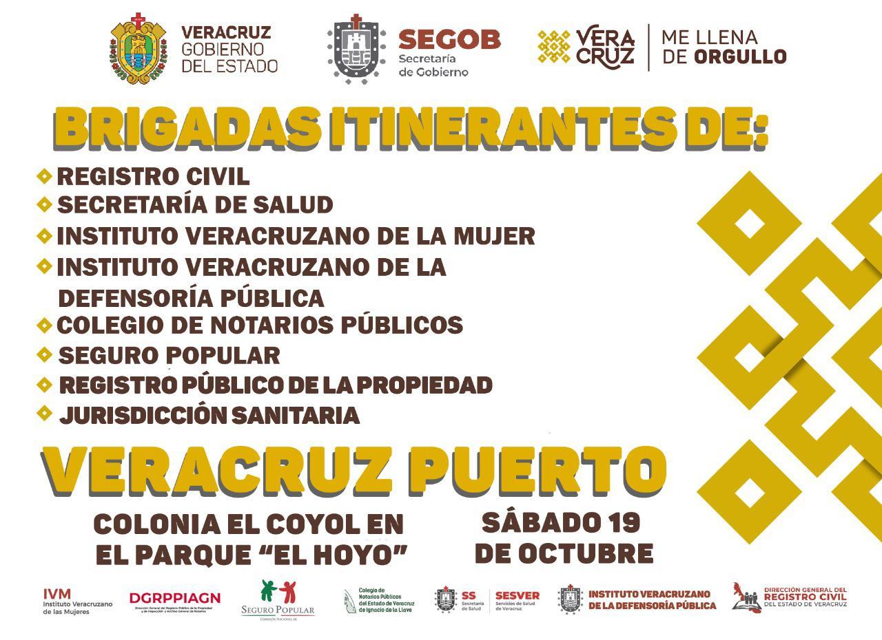 Brigadas Itinerantes del gobierno estatal estarán este sábado en la colonia El Coyol