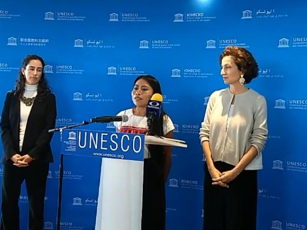 Yalitza Aparicio, embajadora de Buena Voluntad de la UNESCO