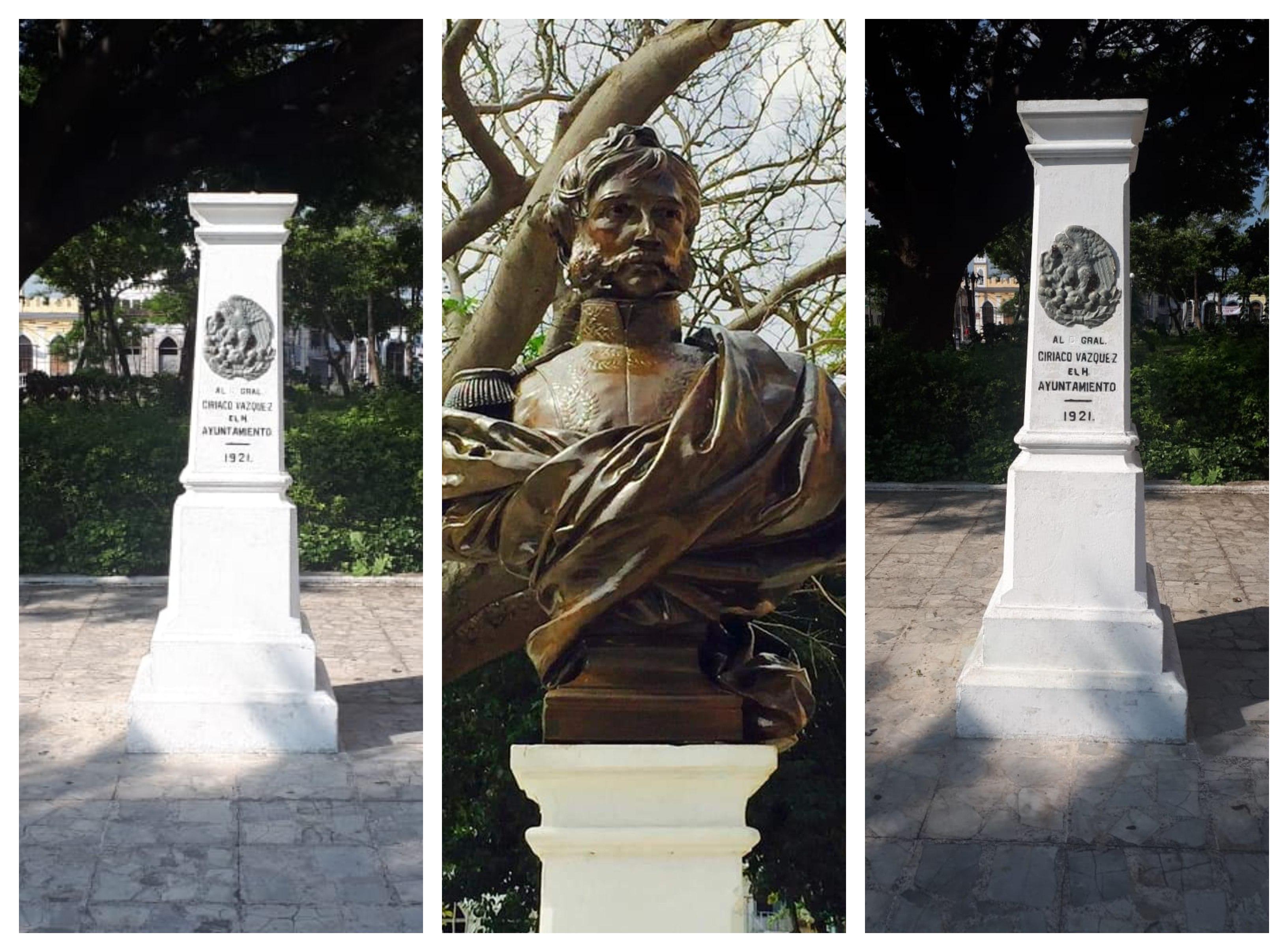 Roban busto a Ciriaco Vázquez en Puerto de Veracruz
