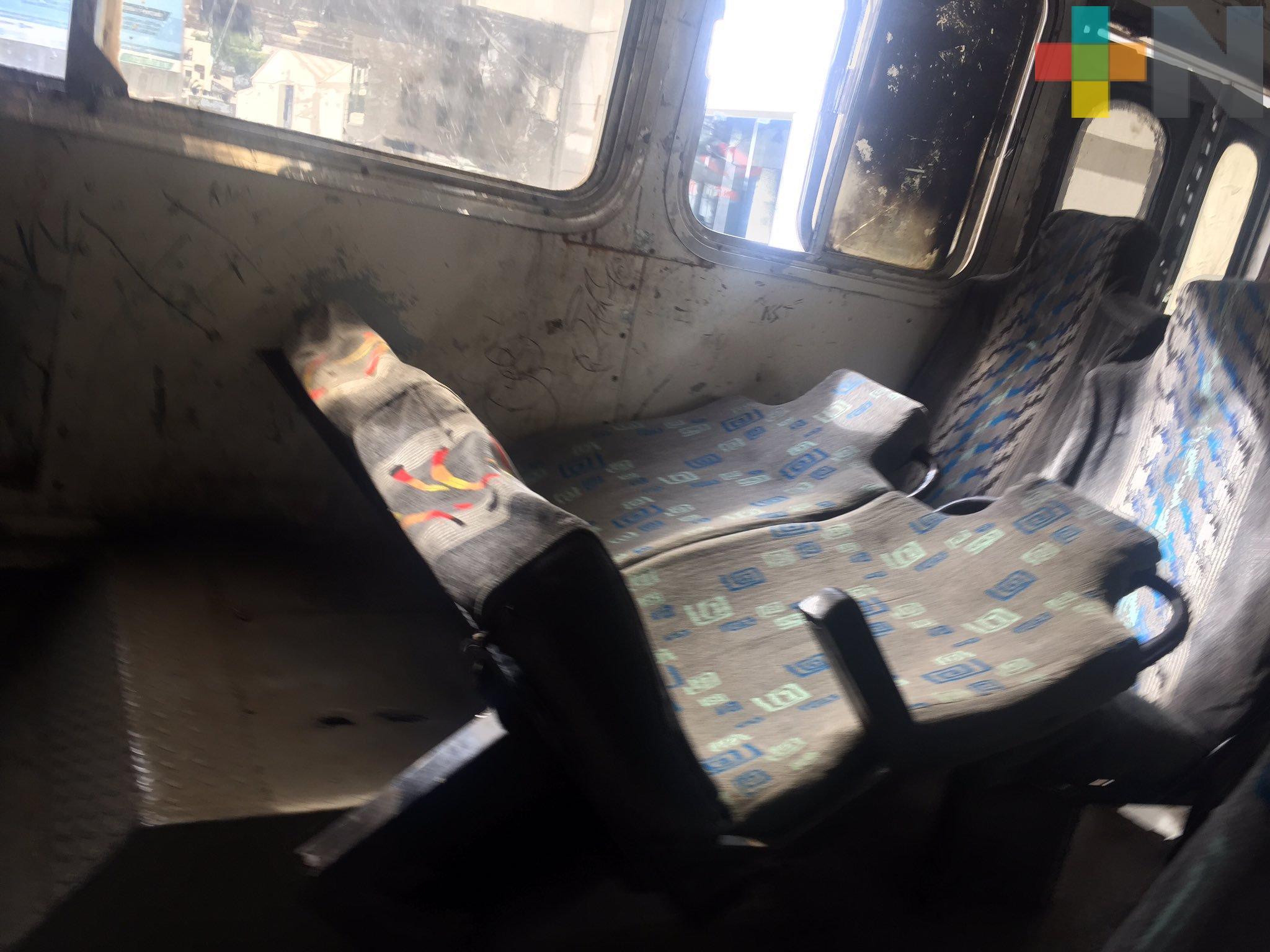 Camiones con asientos»reposet» en Xalapa