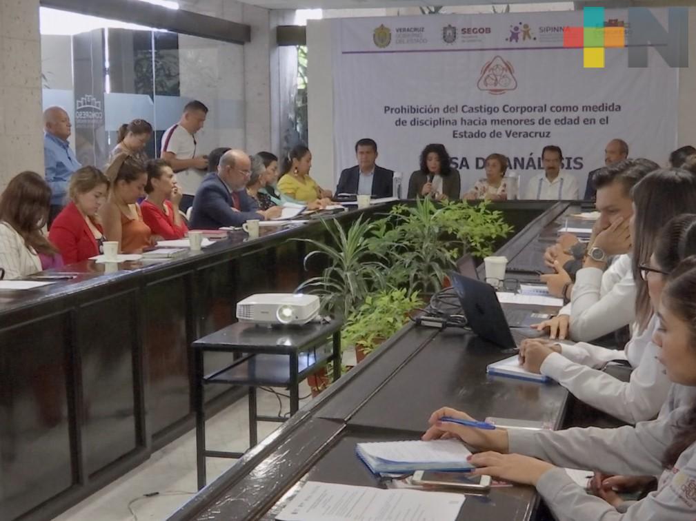"""Realizan mesa de análisis """"Prohibición  del castigo corporal como medida de disciplina hacia menores de edad en Veracruz"""""""