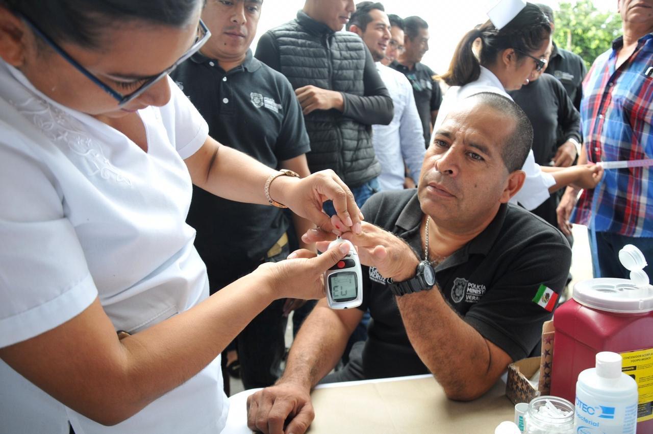 Realiza IMSS jornada de salud en sede de la Policía Ministerial