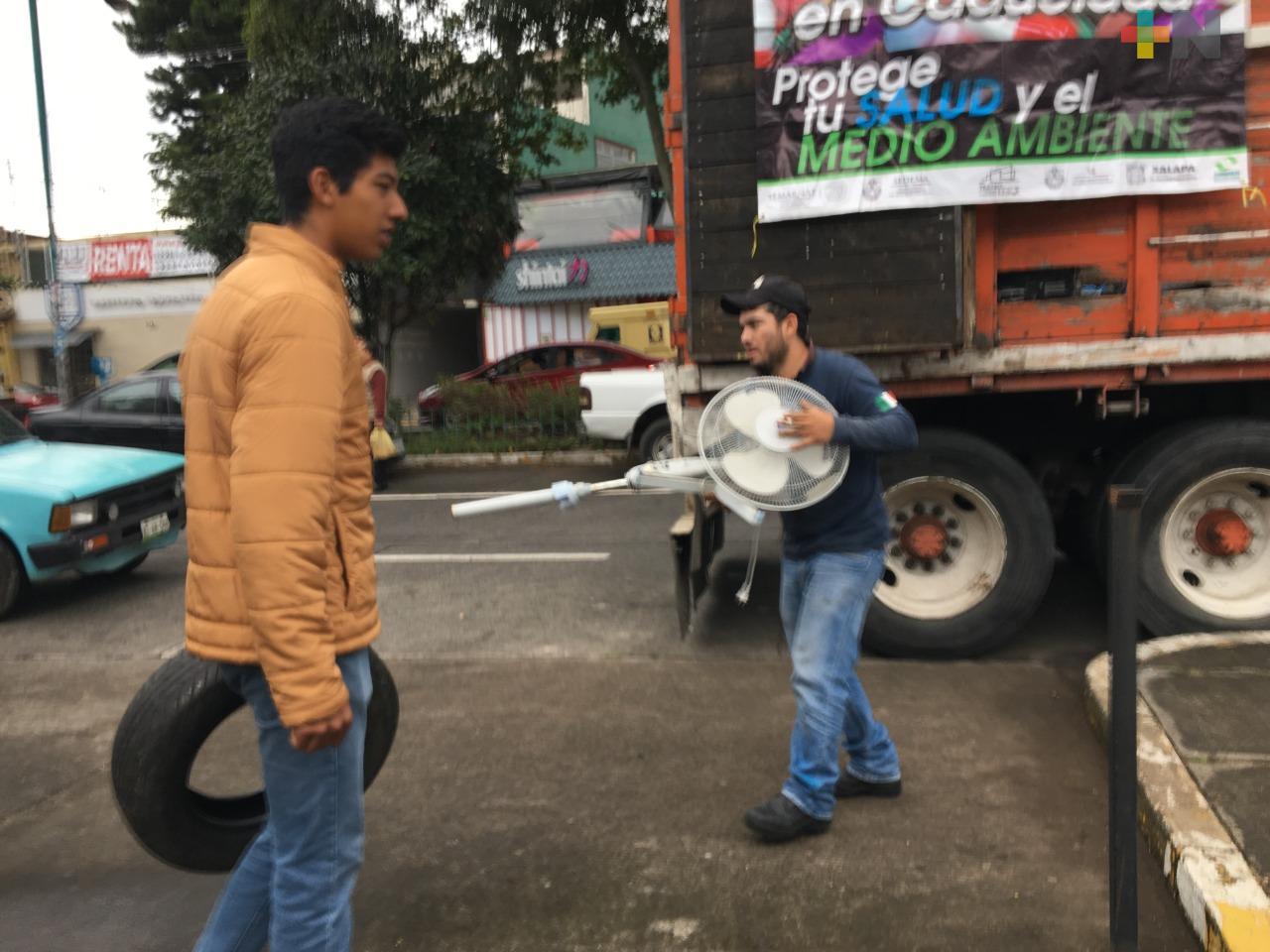 Durante 120 jornadas de descacharrización, se han acopiado más de cuatro mil llantas en Xalapa