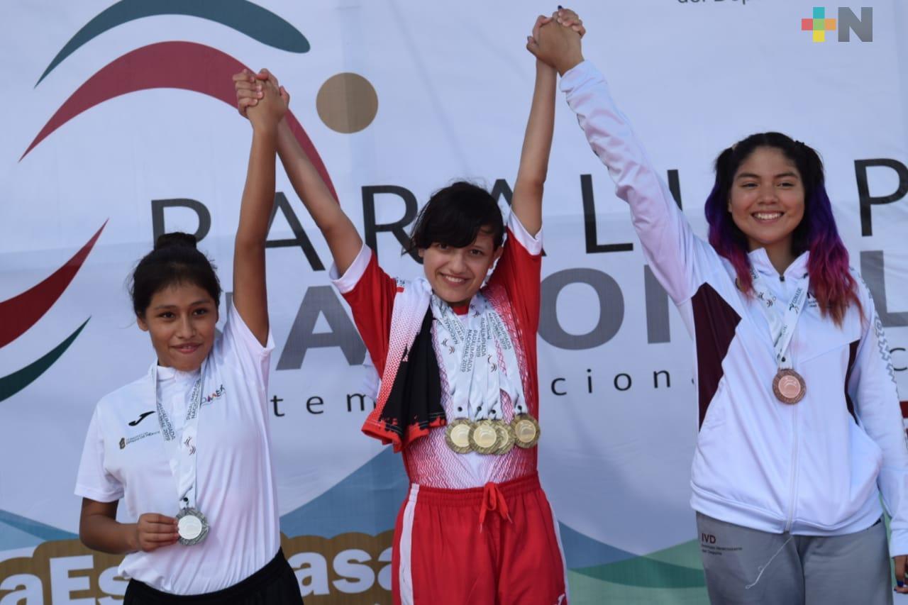 Aportan más oros nadadores Veracruzanos en Paralimpiada 2019