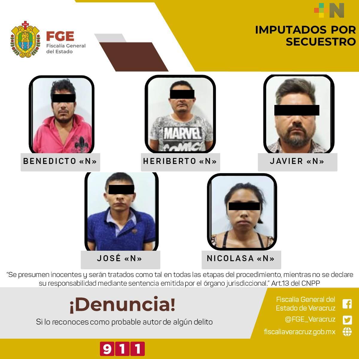 UECS de Fiscalía Veracruz y SSP liberan a víctima de secuestro