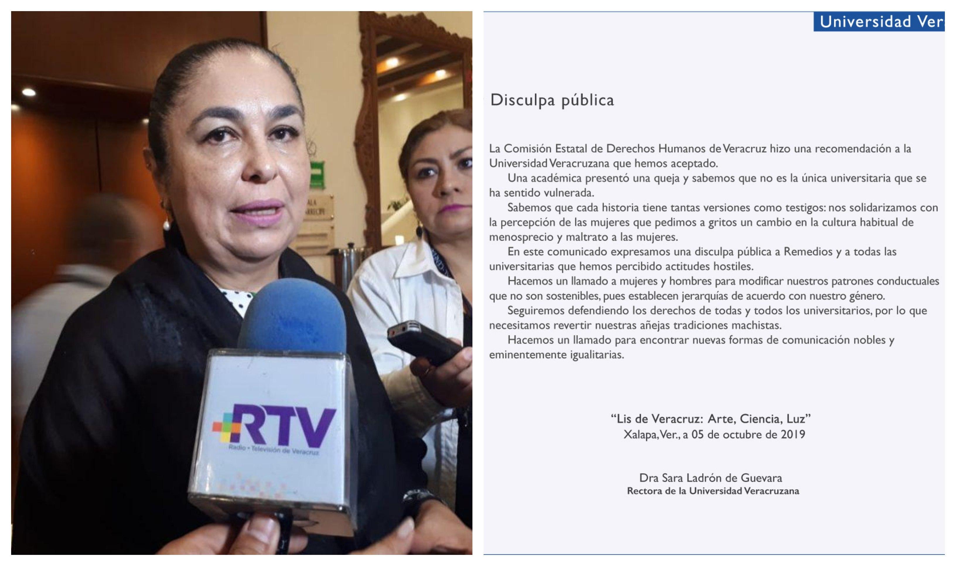 UV atiende recomendación de Derechos Humanos y realiza disculpa pública a docente