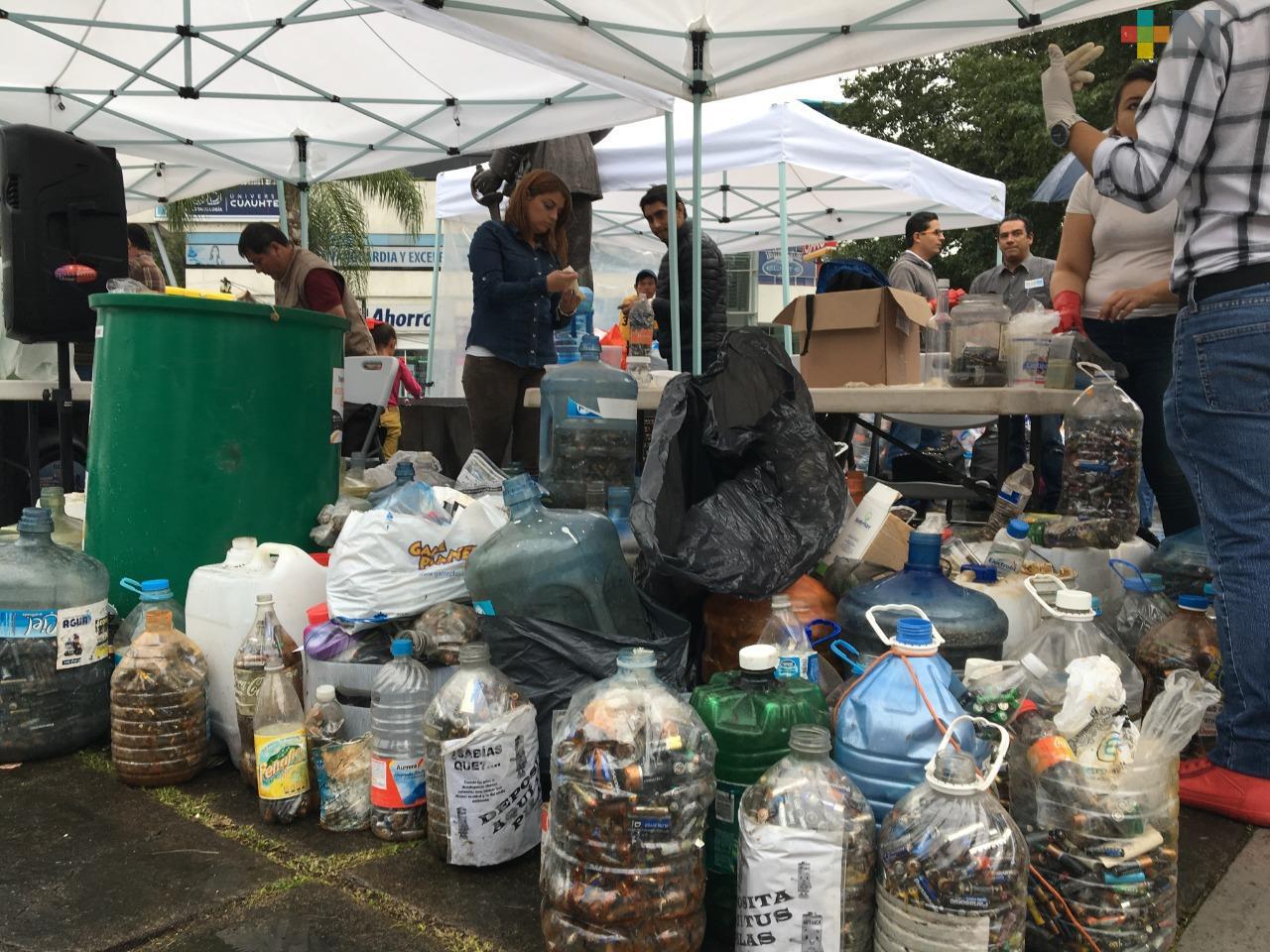 Este sábado realizaron el tercer Reciclón en Xalapa