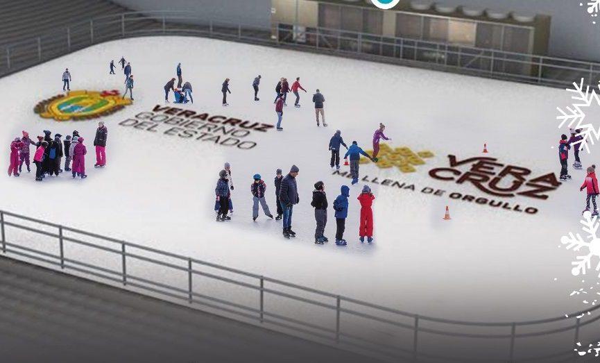 Con un concierto navideño será inaugurada la pista de hielo en Xalapa