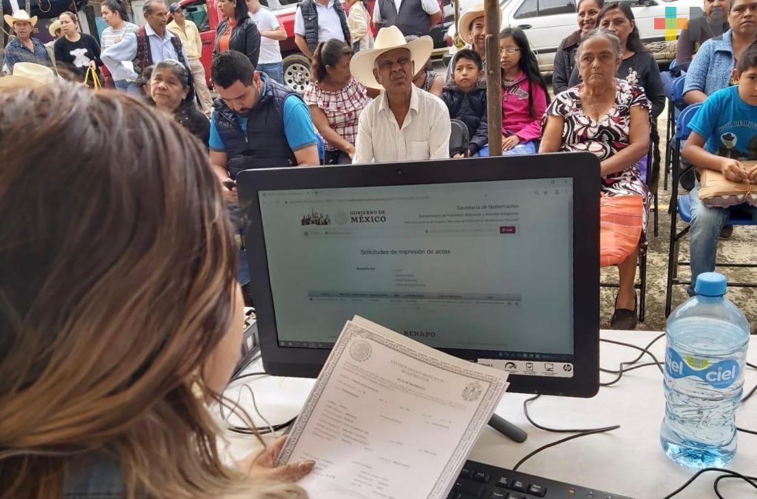 Más de 163 mil servicios del Registro Civil se han realizado en 125 Brigadas Itinerantes: Gobernador Cuitláhuac García
