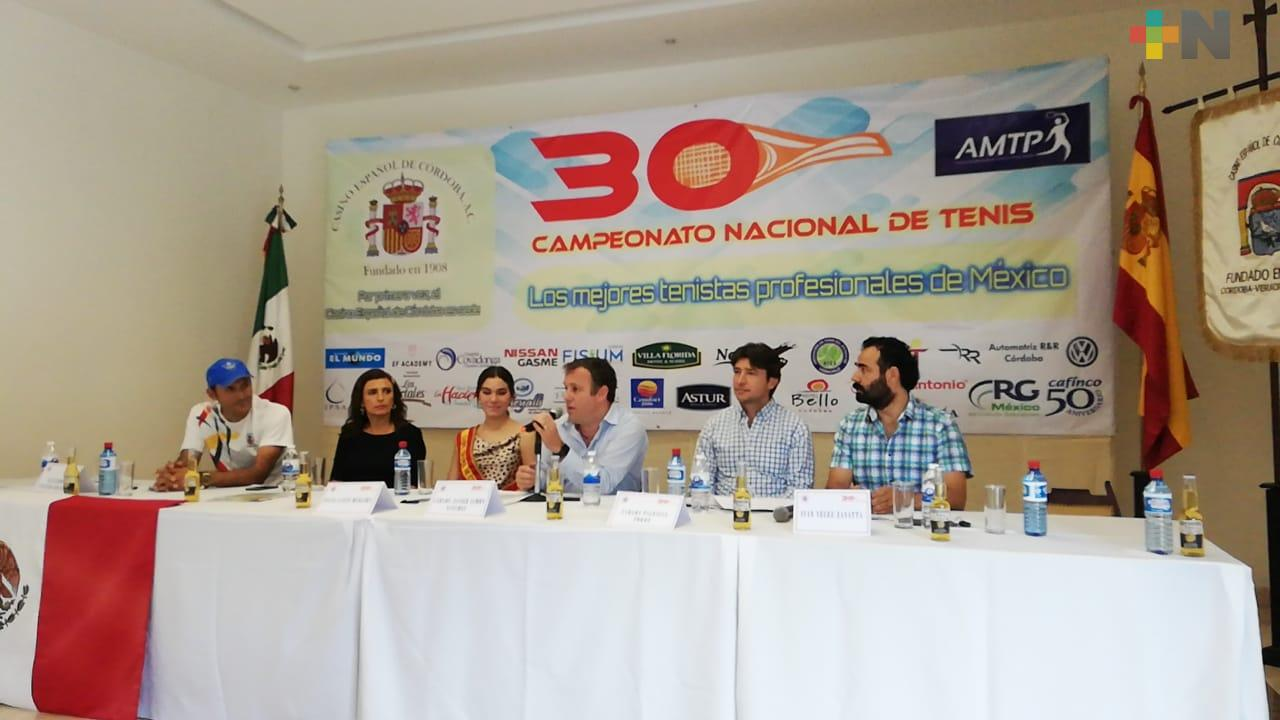 XXX Campeonato Nacional de Tenis llega a Córdoba