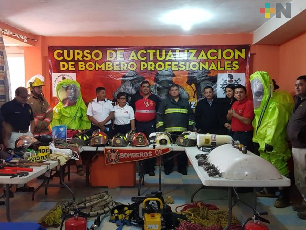 Capacitan a cuerpos de  bomberos Martínez de la Torre, Tlapacoyan y San Rafael
