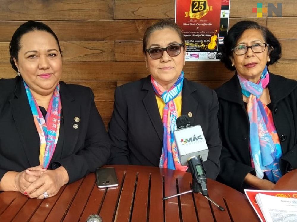 Club Rotario Millenium de Xalapa festeja aniversario con un concierto con causa
