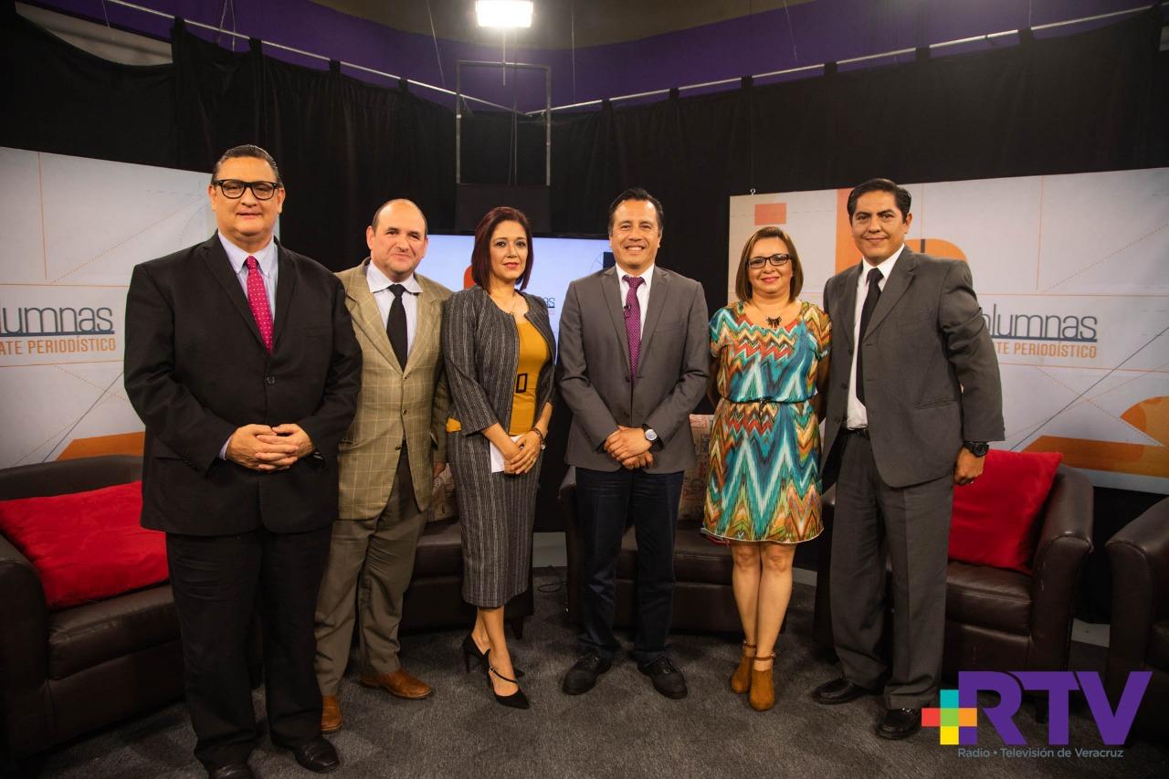 """Por primera vez en Veracruz hay un gobierno honesto: Cuitláhuac García en """"A 8 Columnas"""""""