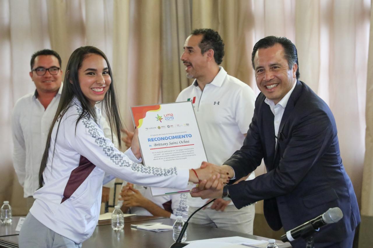 Veracruz, en lo más alto del deporte; reconoce Gobernador Cuitláhuac a medallistas de Panamericanos y Parapanamericanos