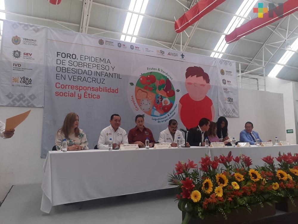 Diputada Ana Miriam Ferráez preside foros para erradicar obesidad infantil
