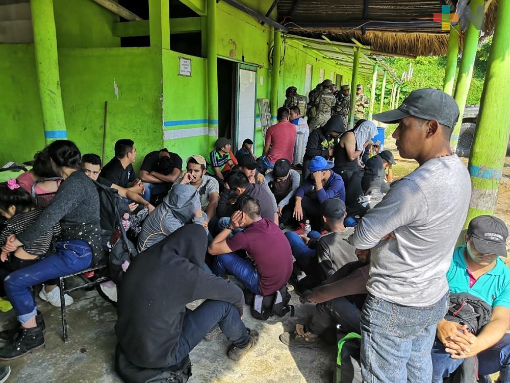Rescató SSP Veracruz a 183 migrantes en cuatro municipios