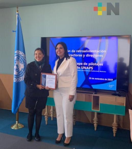 Recibe SSP reconocimiento de la oficina de las Naciones Unidas contra la Droga y el Delito en México