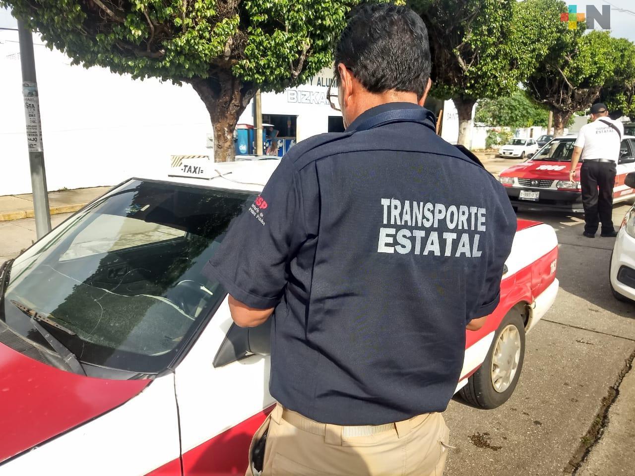 Supervisa Dirección de Transporte unidades de servicio público, en el sur