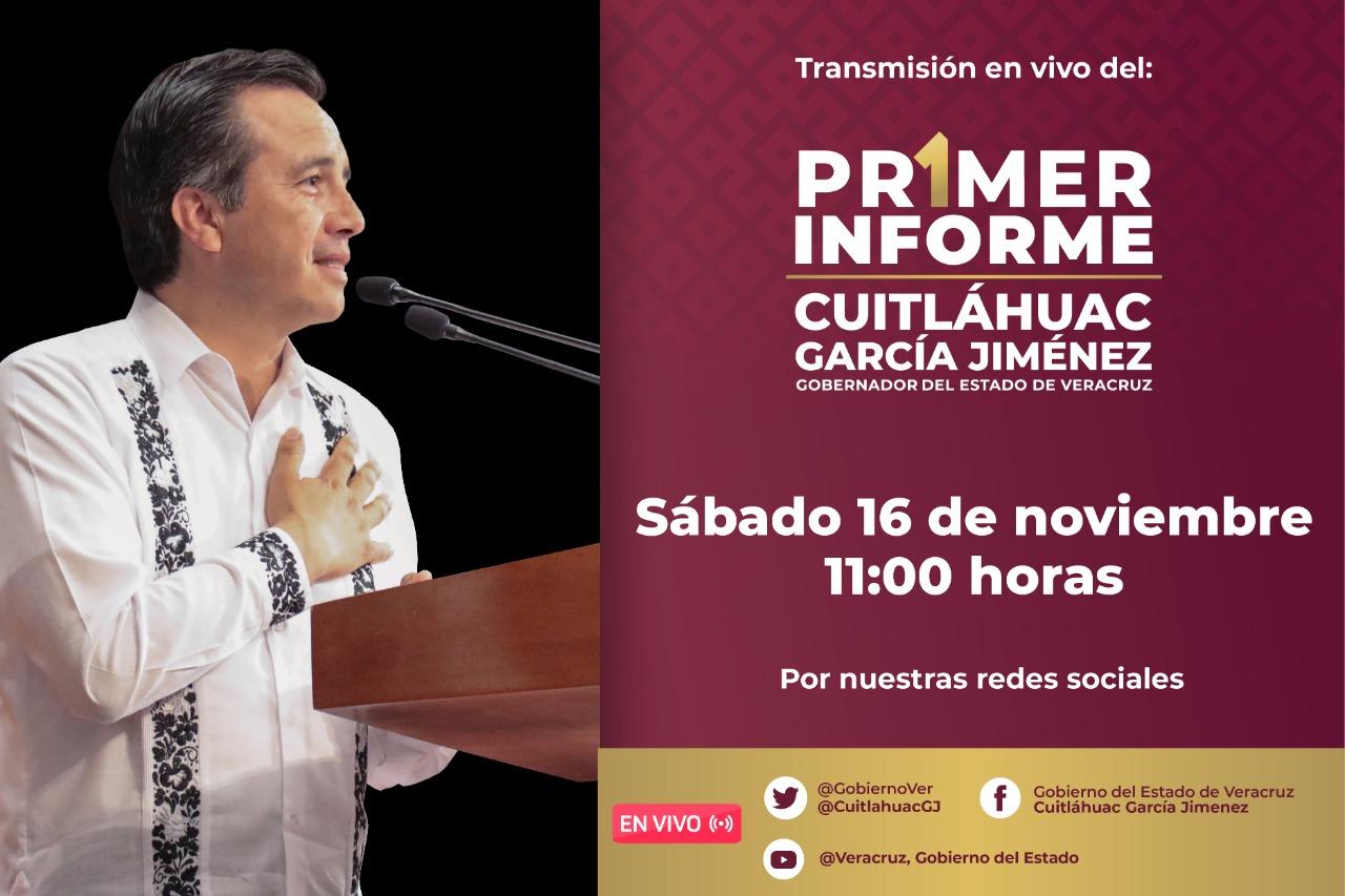 ¿Dónde ver el Primer Informe de Cuitláhuac, el 16 de noviembre?