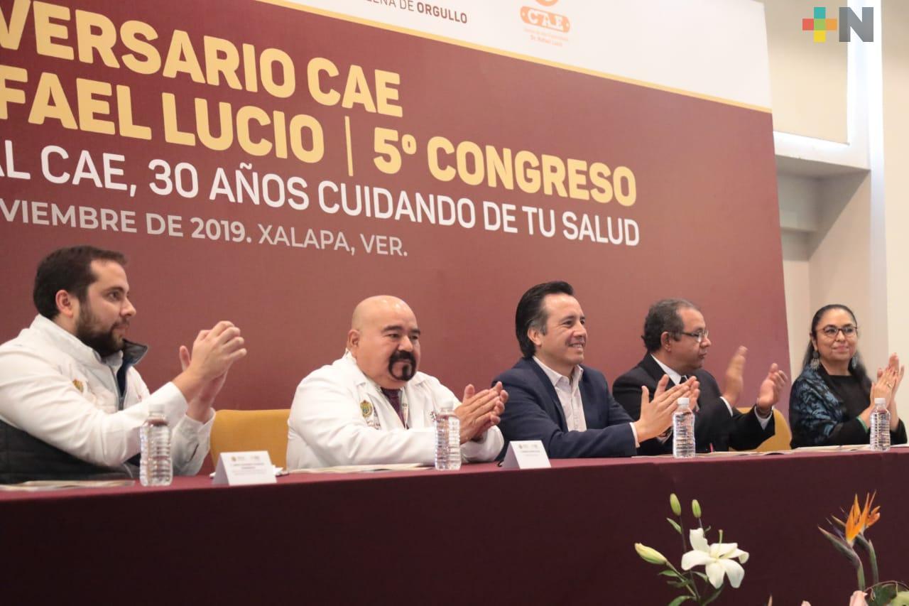 Cuitláhuac García inauguró Congreso alusivo al 30 aniversario del Centro de Alta Especialidad