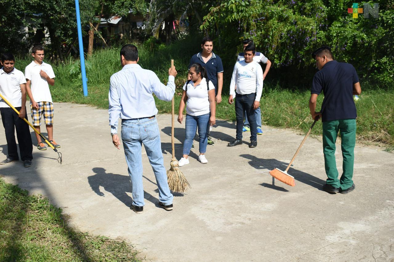 Jóvenes generan acciones en pro del medio ambiente, bajo el programa de FORTASEG